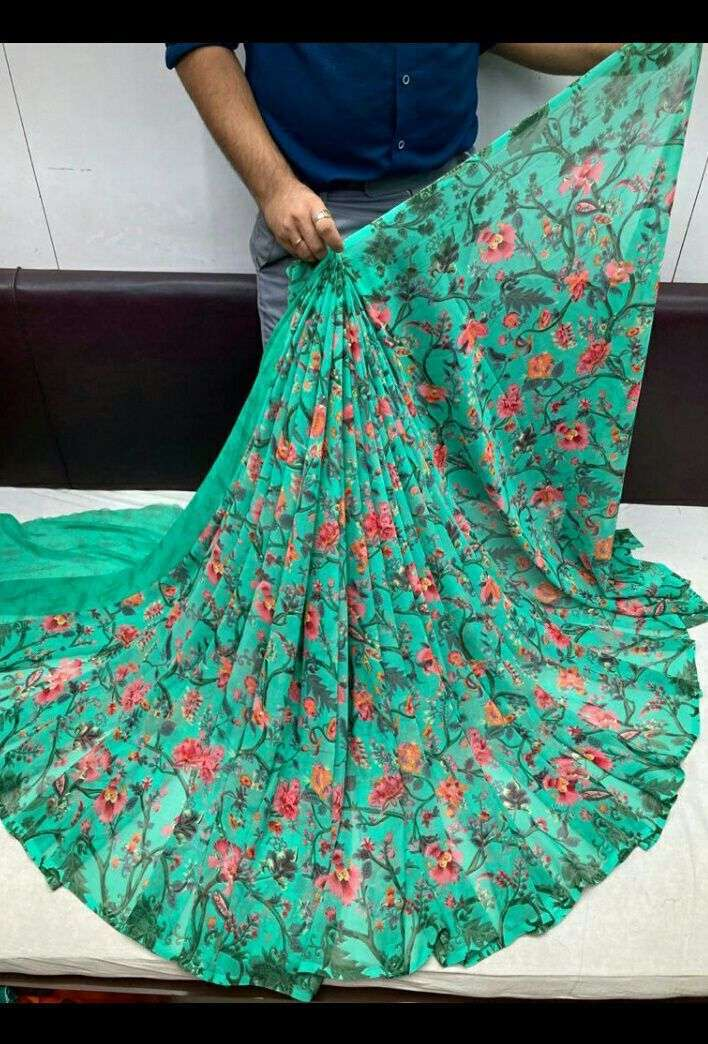 Daily Wear Weightless Fancy Printed Saree Collection 04