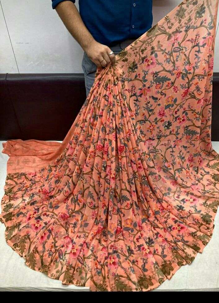Daily Wear Weightless Fancy Printed Saree Collection 05