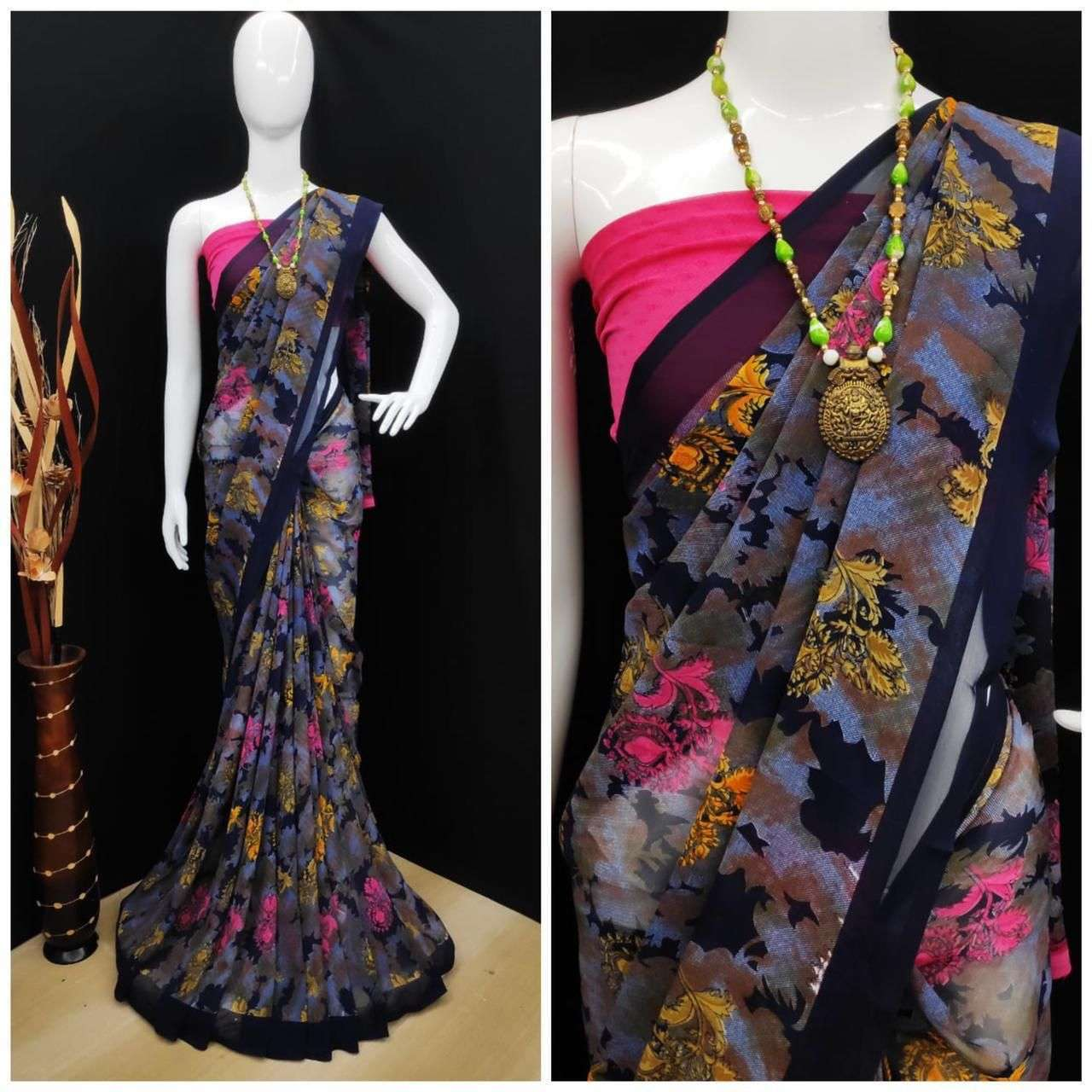 Daily Wear Weightless Fancy Printed Saree Collection 06