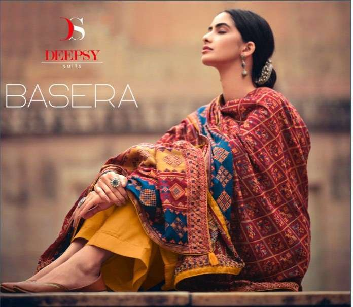 Deepsy Suits basera Tussar silk With Embroidery work dress Material collection