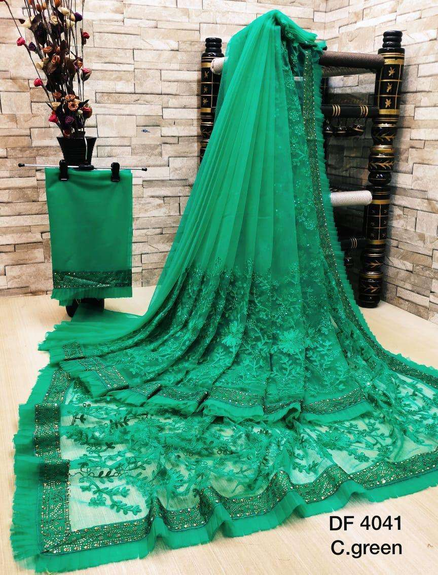 Df 4041 Latest Soft Net Sarees Incredible Collection 010