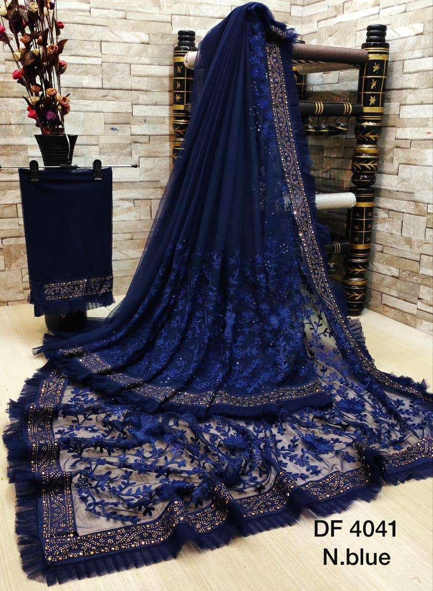 Df 4041 Latest Soft Net Sarees Incredible Collection 011
