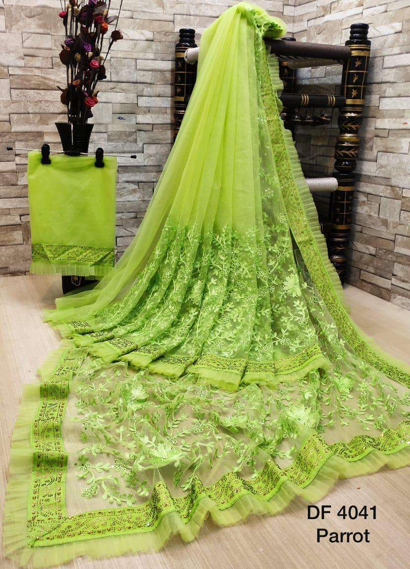 Df 4041 Latest Soft Net Sarees Incredible Collection 012