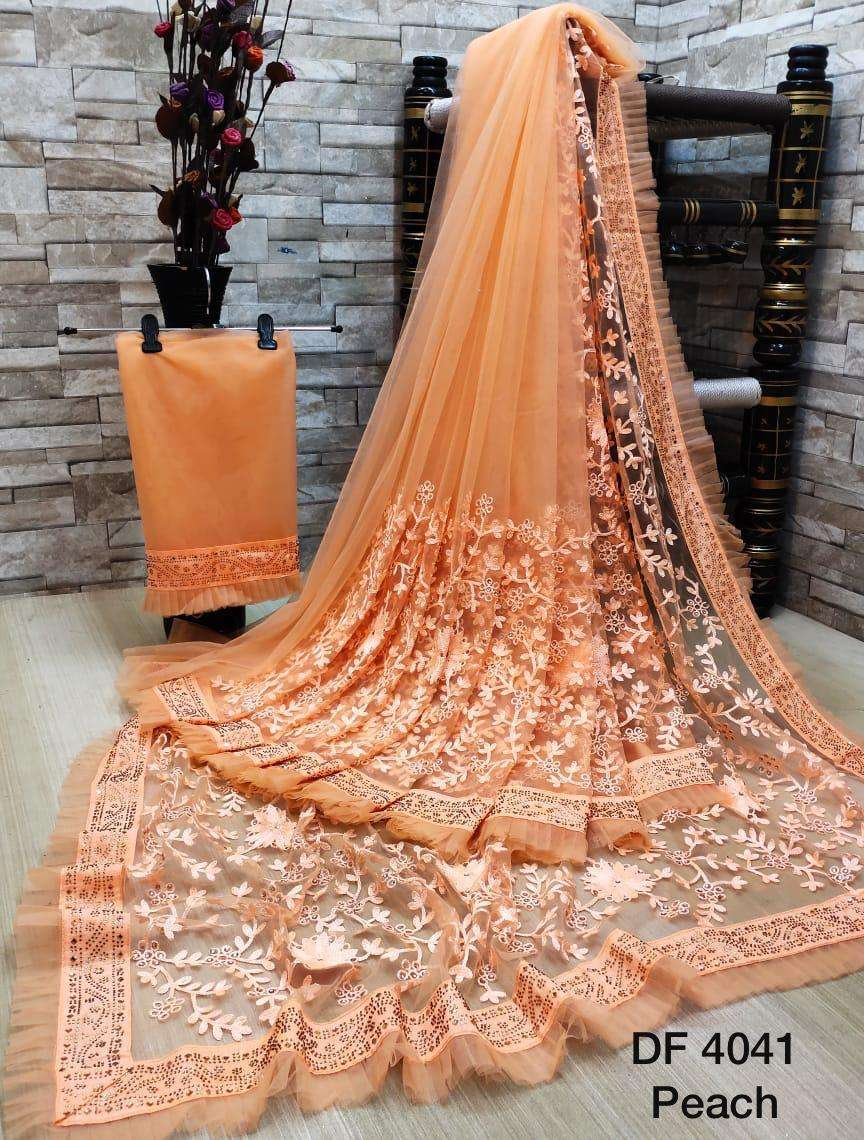 Df 4041 Latest Soft Net Sarees Incredible Collection 02