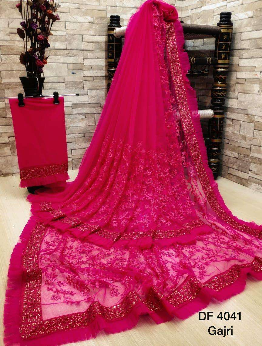 Df 4041 Latest Soft Net Sarees Incredible Collection 04