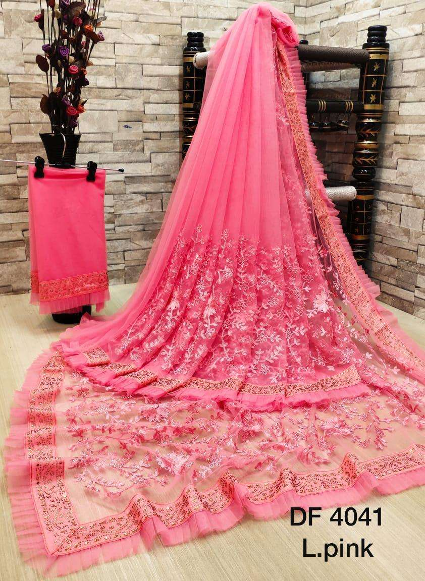 Df 4041 Latest Soft Net Sarees Incredible Collection 05