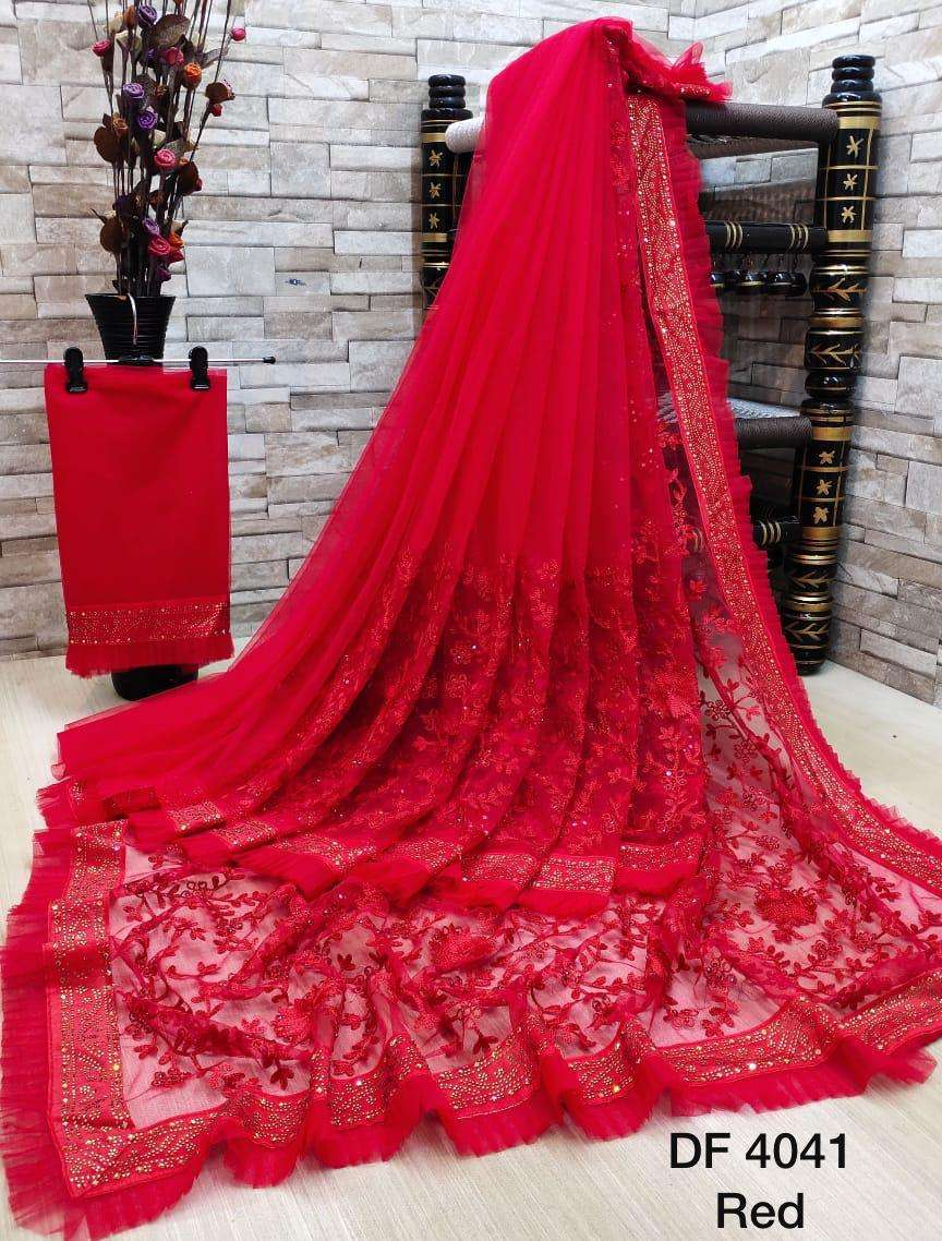 Df 4041 Latest Soft Net Sarees Incredible Collection 07