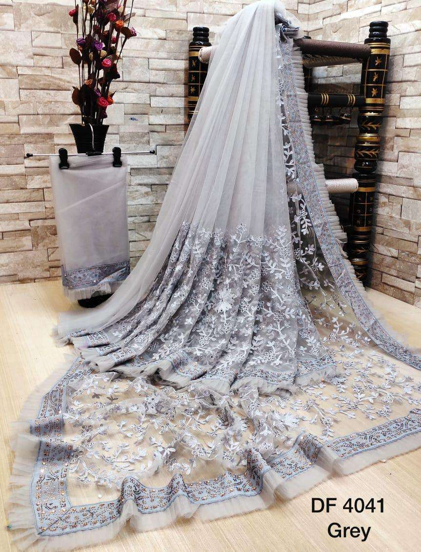 Df 4041 Latest Soft Net Sarees Incredible Collection 09