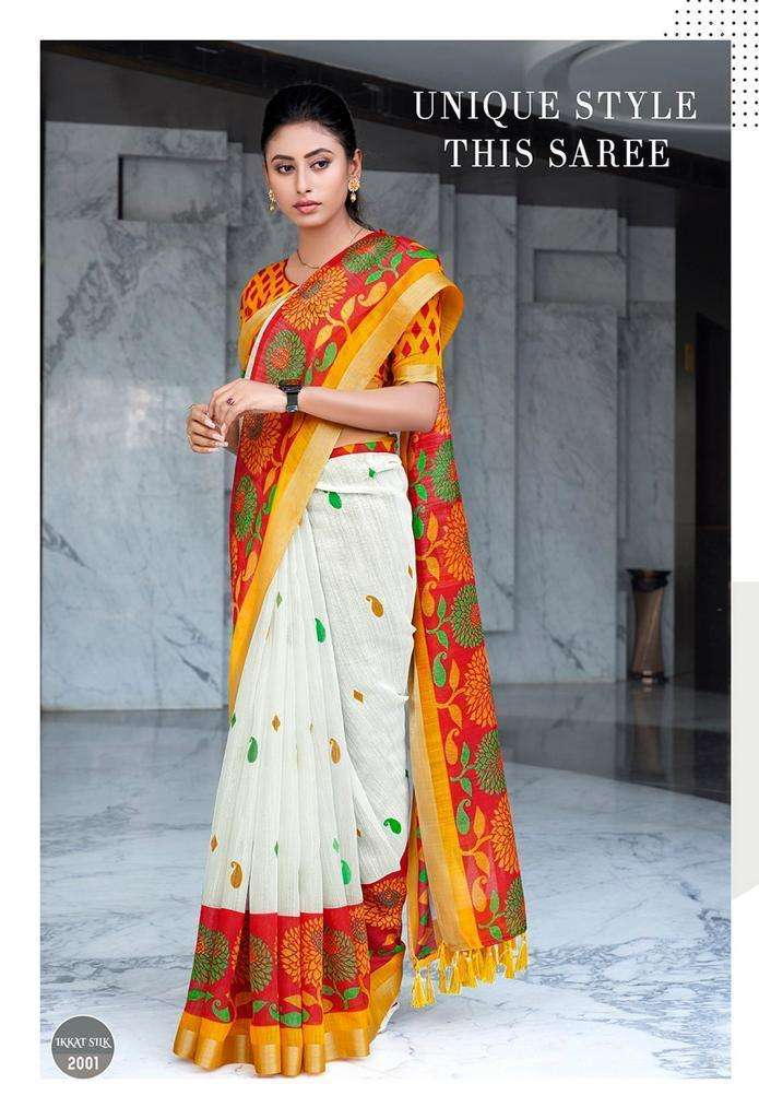 Durga Pooja Special Red and White Saree At Best Price
