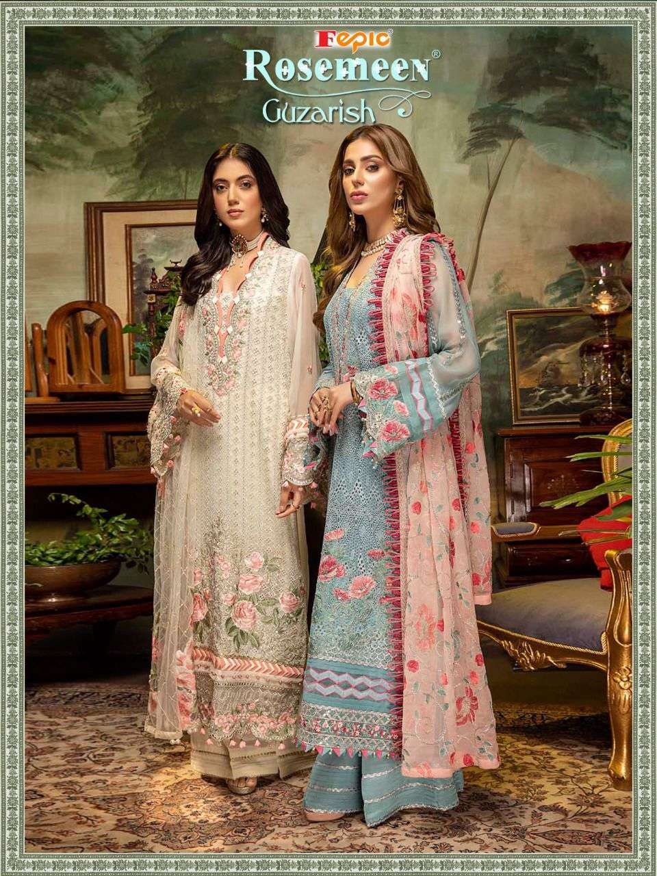 Fepic Rosemeen Guzarish Faux georgette With Embroidery Work Pakistani Suits Collection