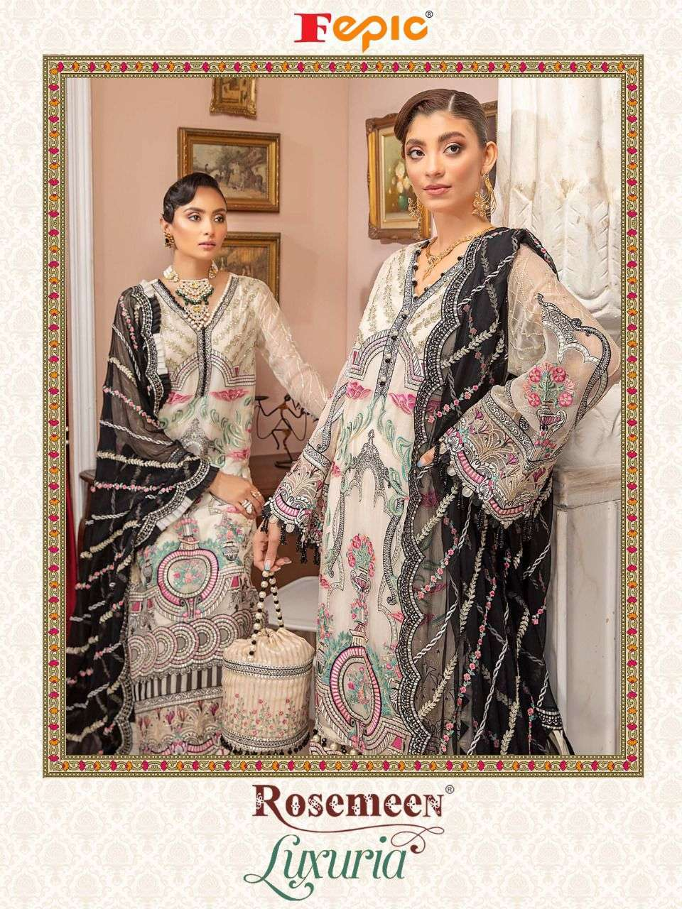 Fepic Rosemeen Luxuria Faux Georgette With Embroidery Work Pakistani Suits Collection