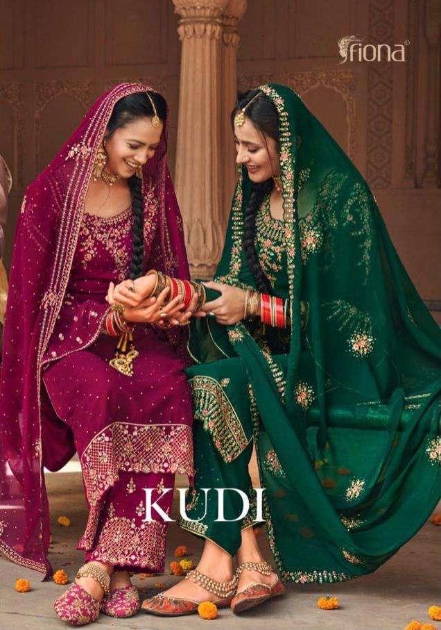 Fiona Kudi Silk Georgette With Embroidery Work Salwar Kameez Collection