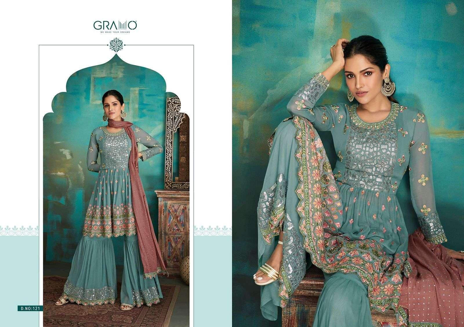 Gramo Navabi Vol 1 Georgette With Heavy Embroidery Work Salwar Kameez Collection 01