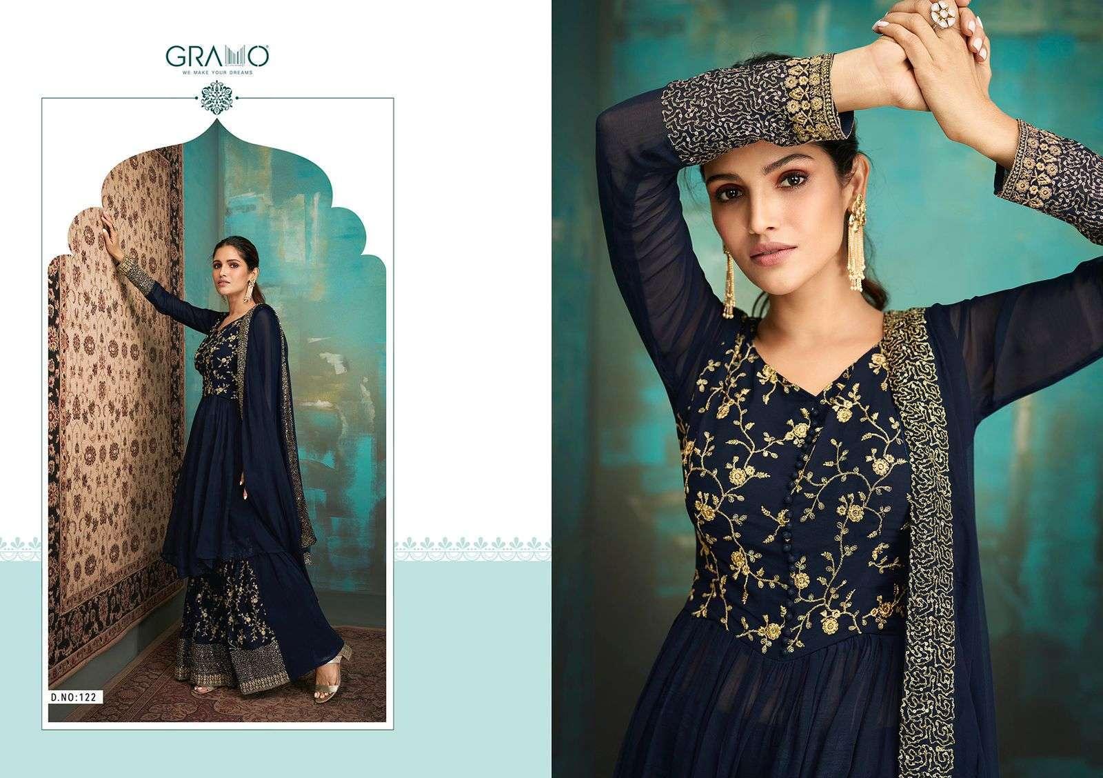 Gramo Navabi Vol 1 Georgette With Heavy Embroidery Work Salwar Kameez Collection 02