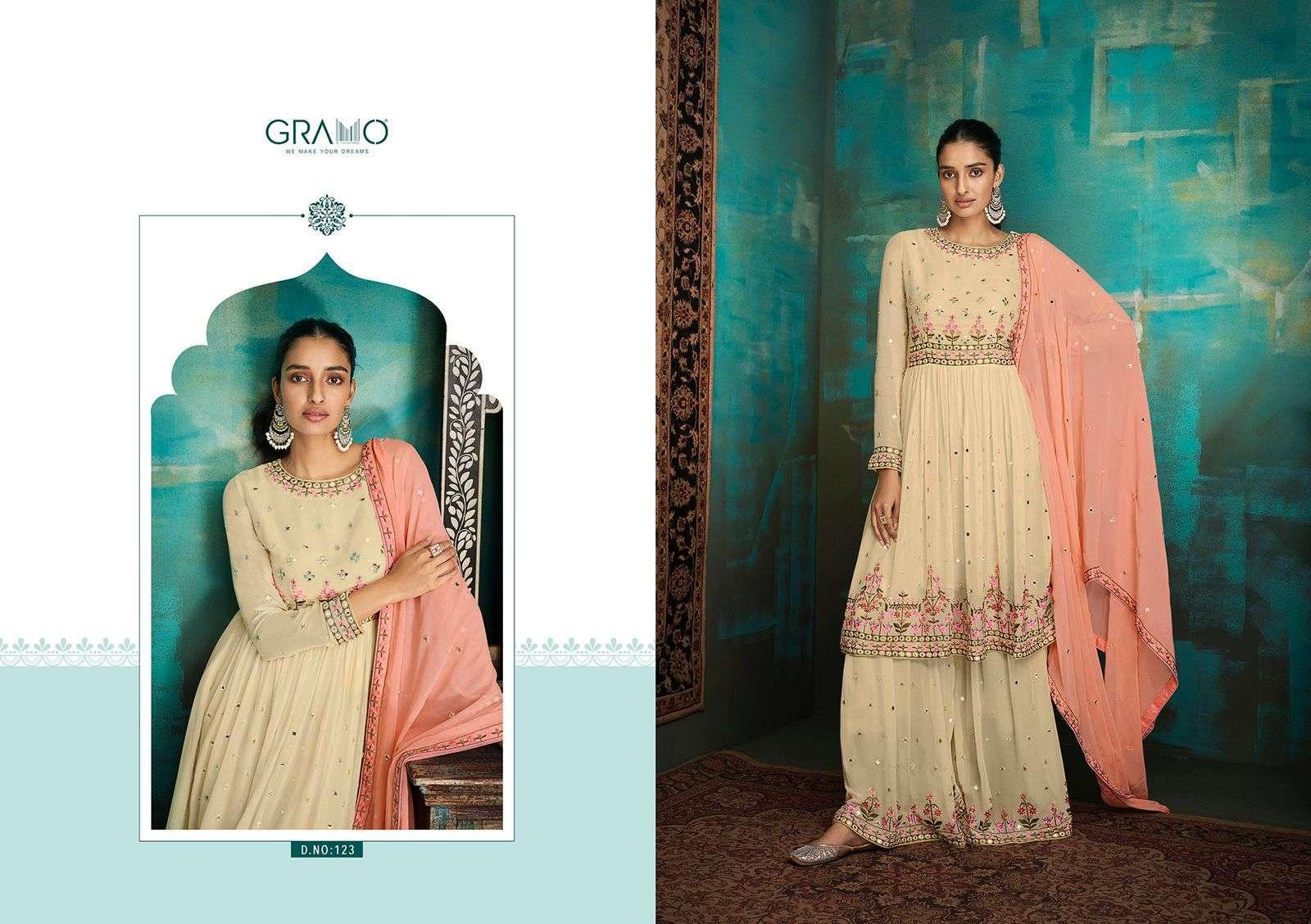 Gramo Navabi Vol 1 Georgette With Heavy Embroidery Work Salwar Kameez Collection 03