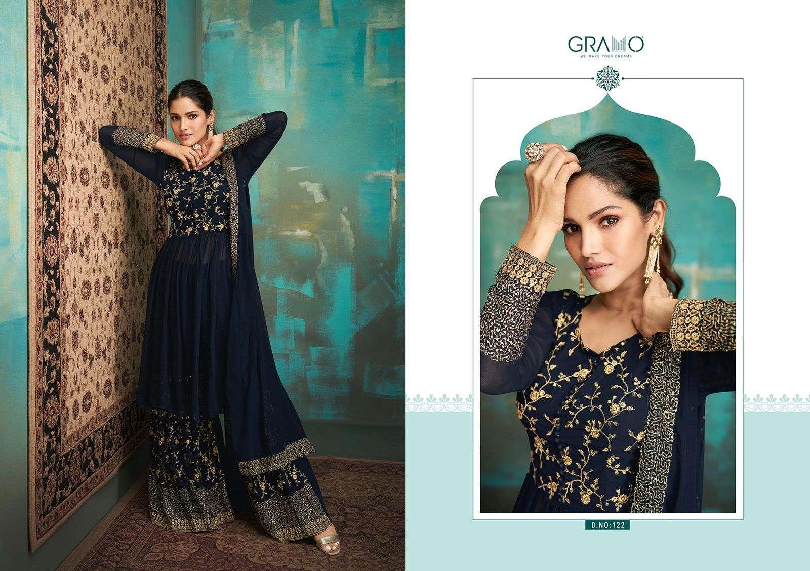 Gramo Navabi Vol 1 Georgette With Heavy Embroidery Work Salwar Kameez Collection 04