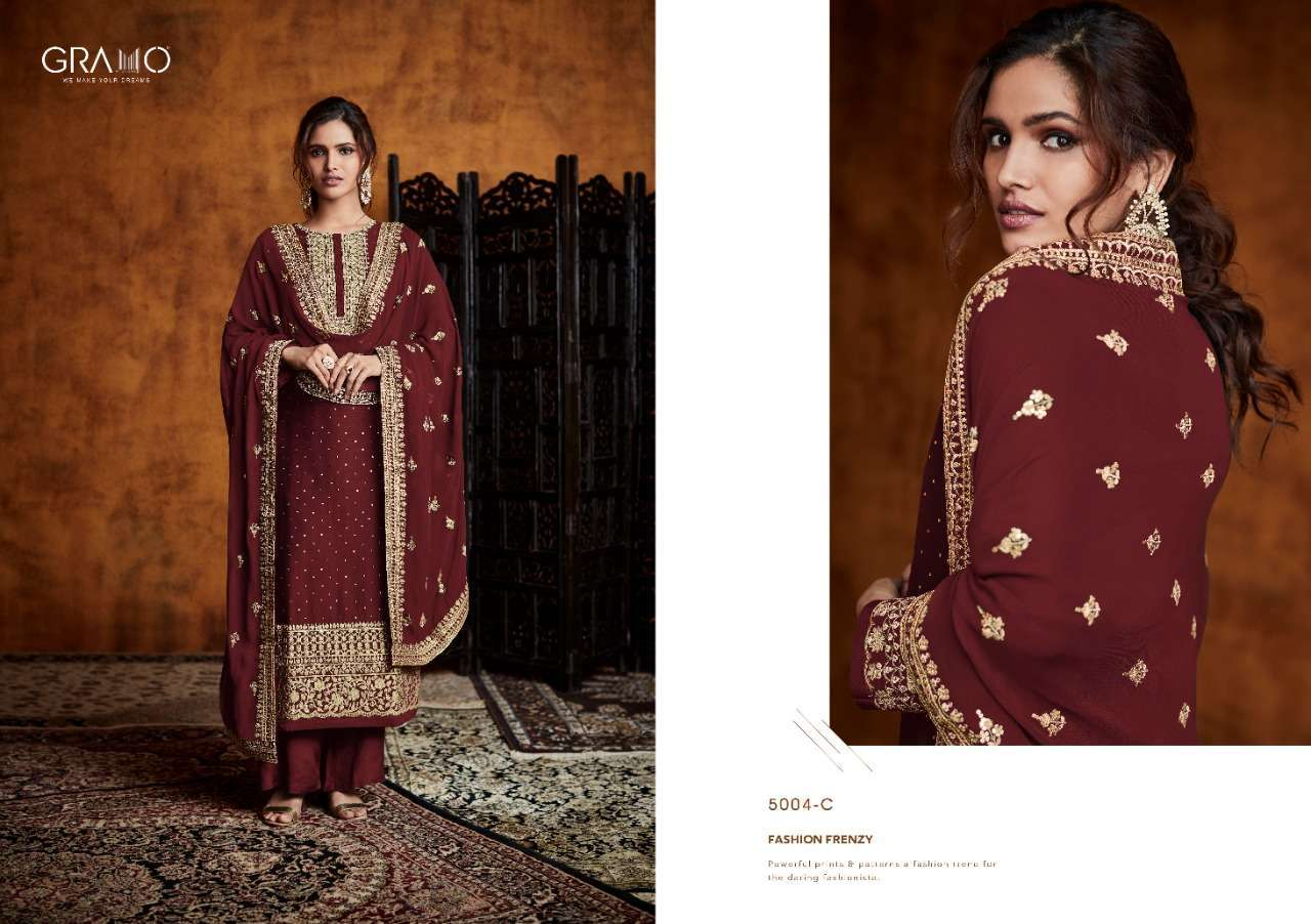 Gramo Pankh Vol 1 Real Georgette With Embroidery Work Readymade Salwar Kameez Collection 01