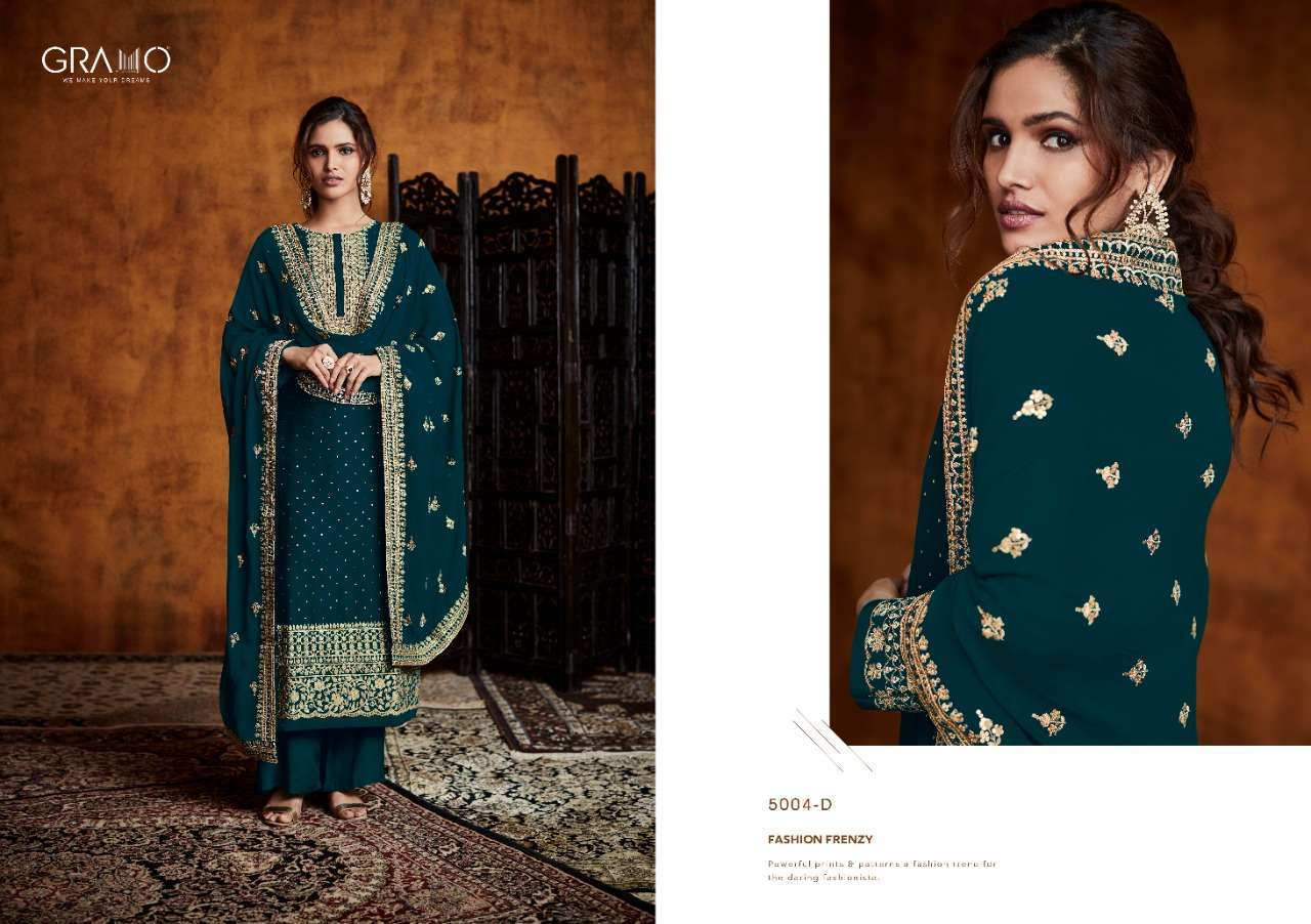 Gramo Pankh Vol 1 Real Georgette With Embroidery Work Readymade Salwar Kameez Collection 02