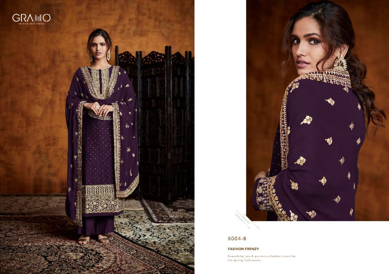 Gramo Pankh Vol 1 Real Georgette With Embroidery Work Readymade Salwar Kameez Collection 03