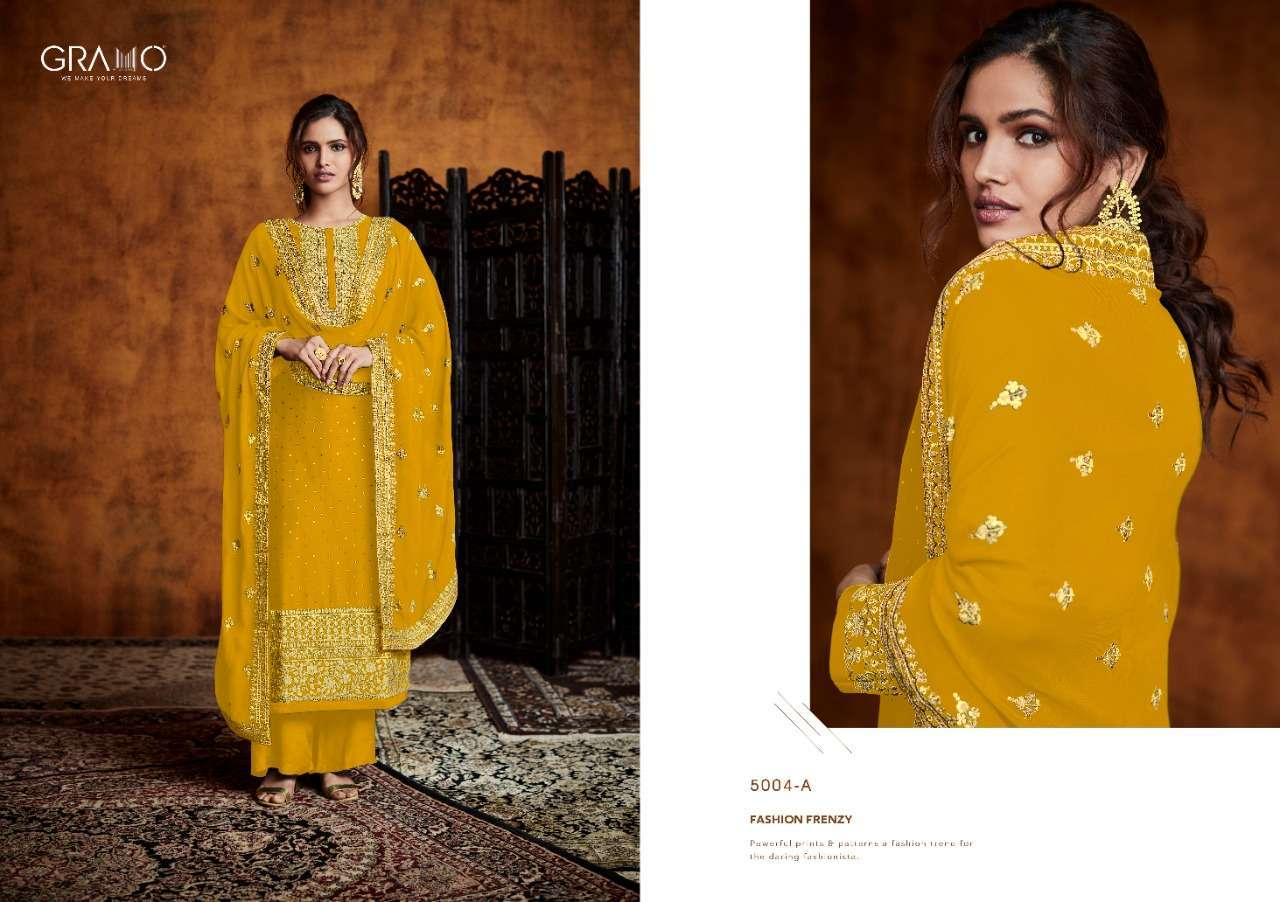 Gramo Pankh Vol 1 Real Georgette With Embroidery Work Readymade Salwar Kameez Collection 04