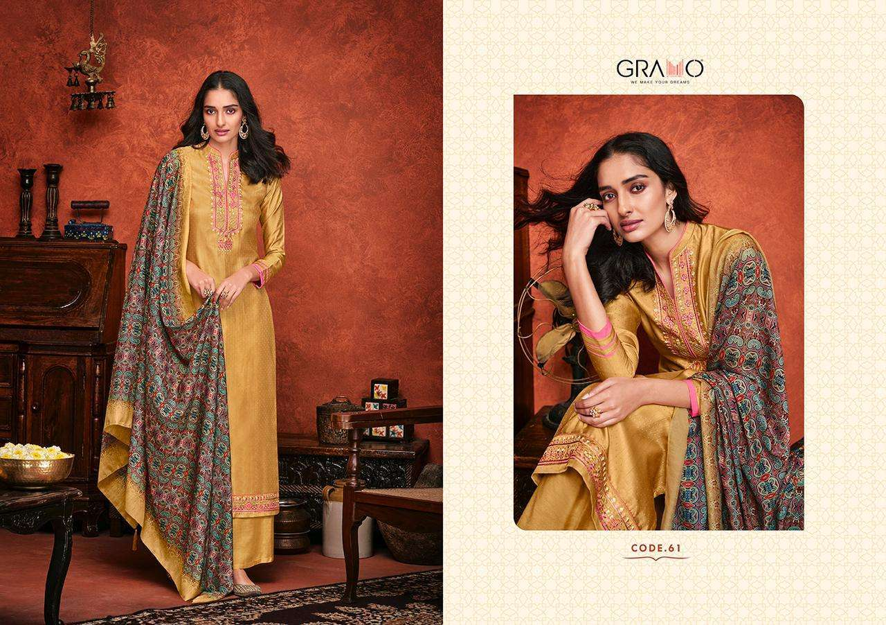 Gramo Safar Vol 2 Pure Viscose With Embroidery Work Readymade Suits Collection 01