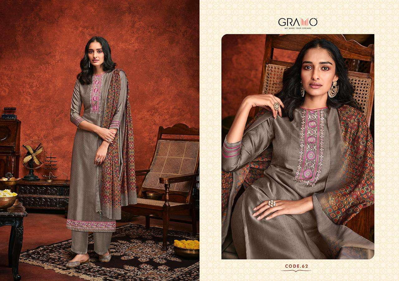 Gramo Safar Vol 2 Pure Viscose With Embroidery Work Readymade Suits Collection 02