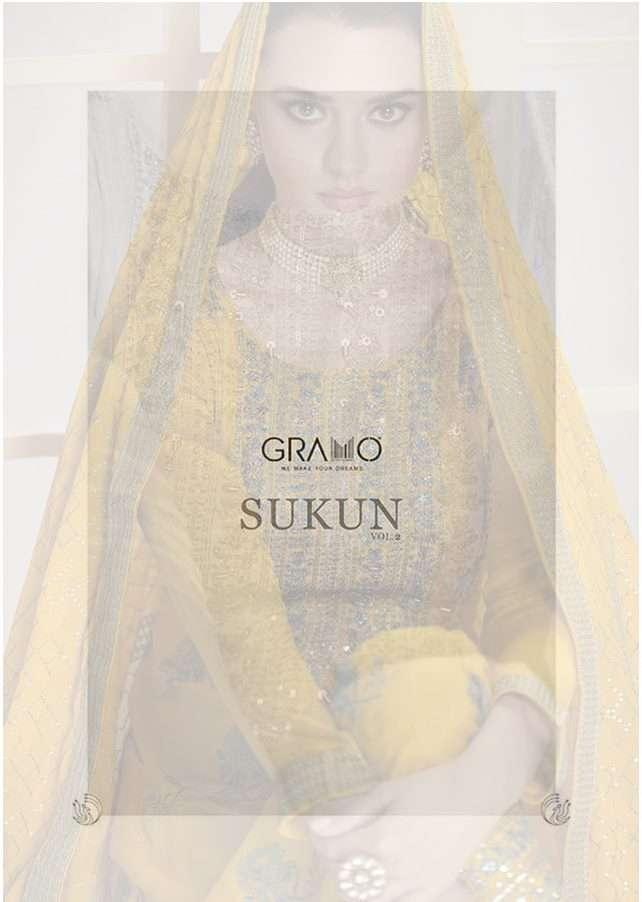GRAMO SUKUN VOL 2 CHINNON FEEL PURE VISCOUS READYMADE  DRESS MATERIALS