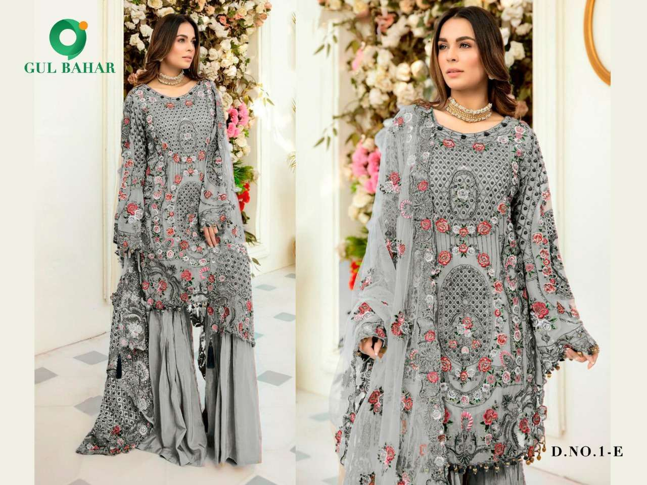 Gul Bahar Colour Hits Vol 1 Heavy Net With Embroidery Work Pakistani Suits Collection 04