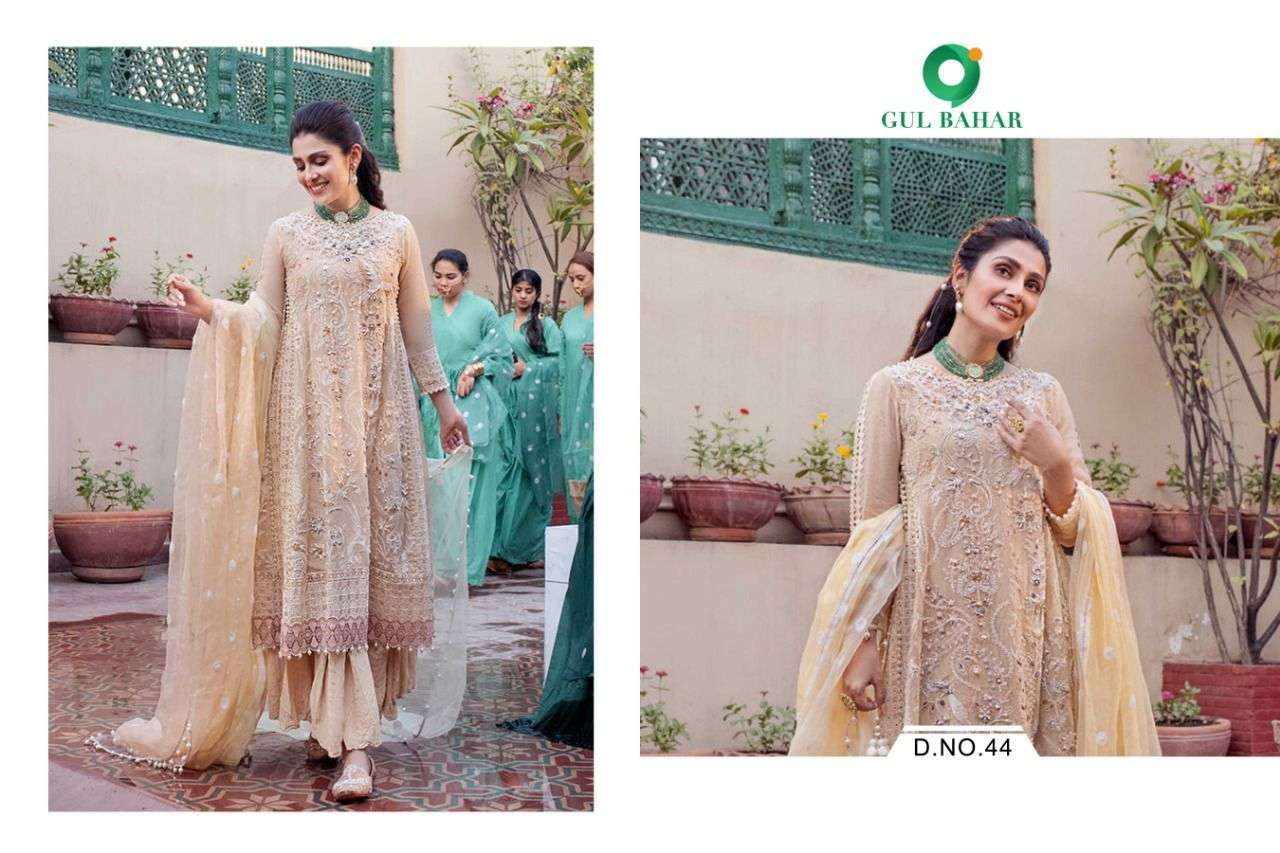 Gul Bahar Mushq Vol 1 Butterfly Net With Embroidery Work Readymade Suits Collection 03