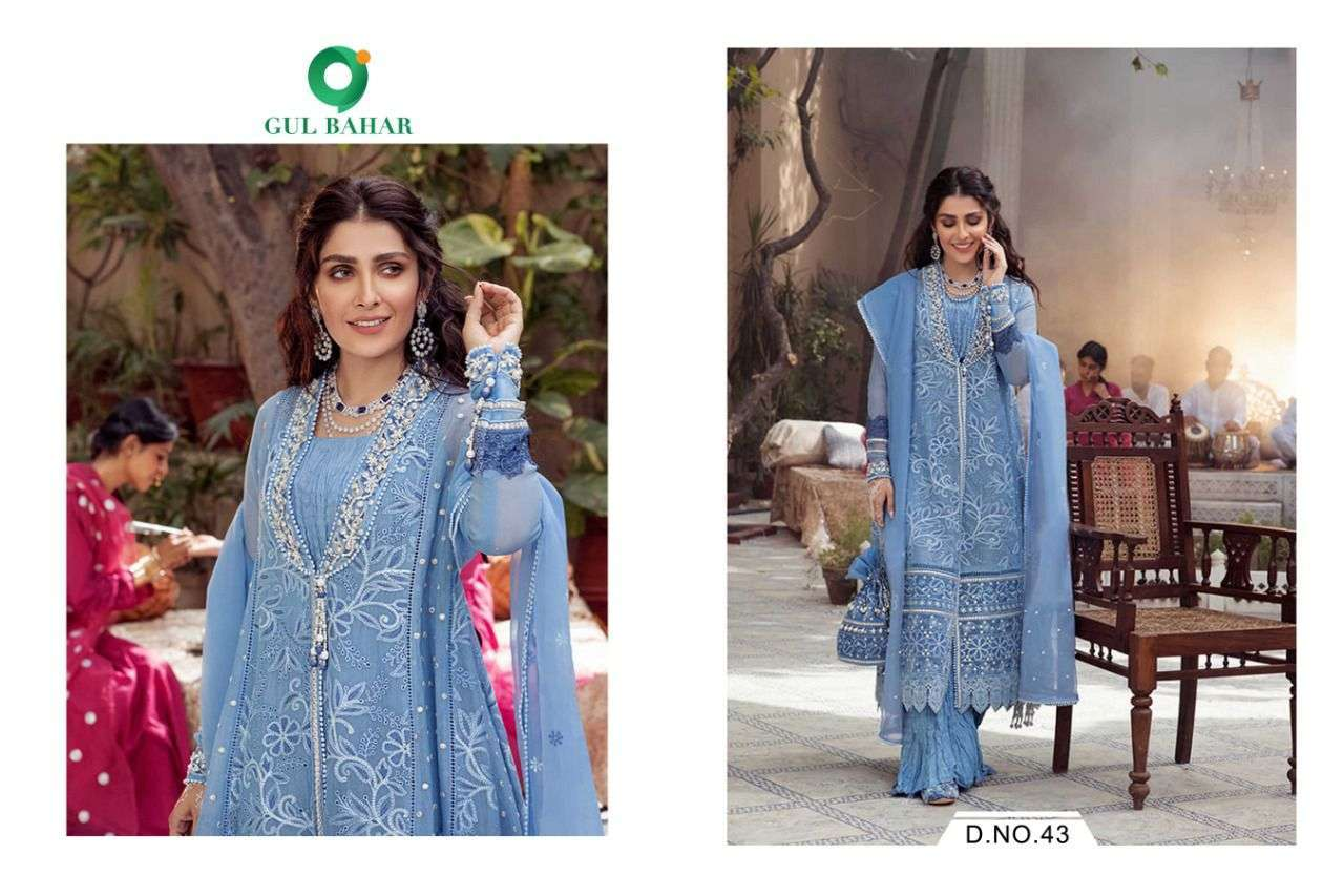 Gul Bahar Mushq Vol 1 Butterfly Net With Embroidery Work Readymade Suits Collection 04