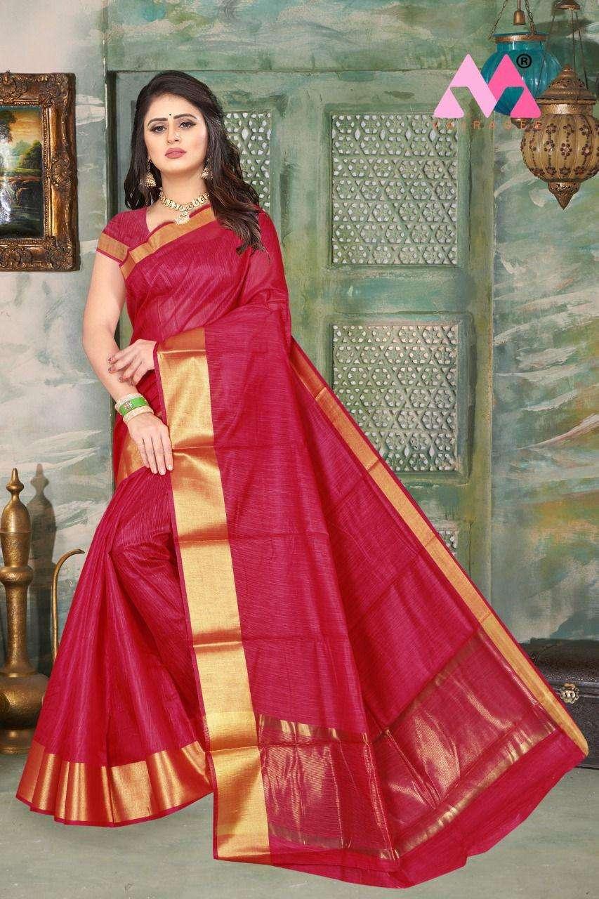 harshini Cotton Linen regular Wear Sarees Collection
