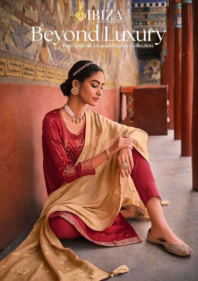 Ibiza Beyond luxury Pure Gaji silk jacquard Salwar Kameez Collection