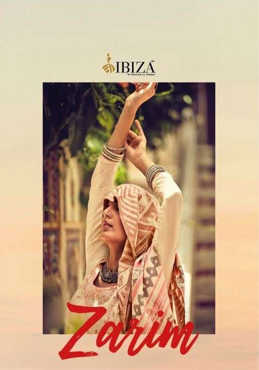 Ibiza Zarim Silk Satin With Embroidery Work dress Material Collection