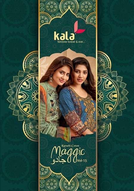 Kala Maggic Vol 15  Karachi Cotton printed dress materials at wholesale price