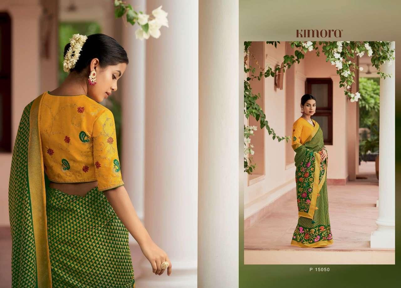 Kimora Meera Vol 3 15041-15051 Series Khushi Brasso Sarees Collection 0101