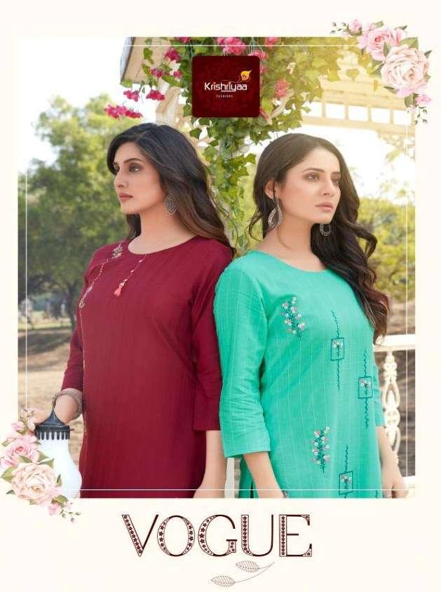 Krishriyaa Vogue Classy Embroidery Kurtis with Tassels and Embellishments