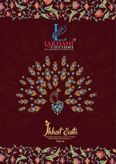 Lakhani Cotton Ikkat Suits Vol 4 Cotton printed Dress Material Collection