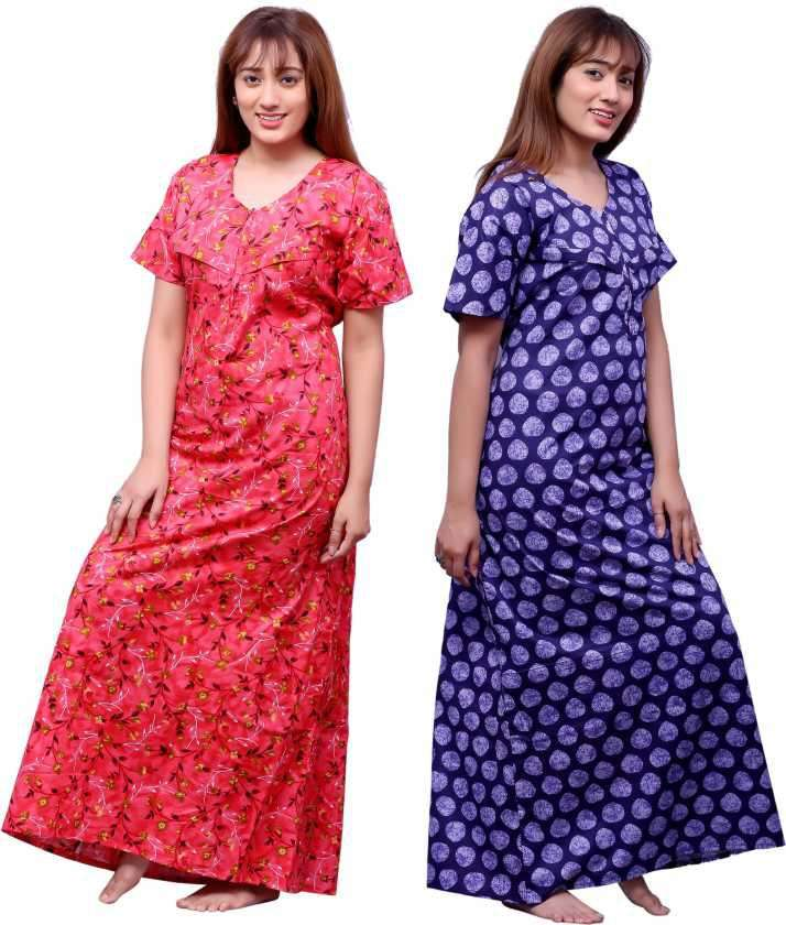 LATEST COTTON NIGHTY GOWN COLLECTION AT WHOLESALE PRICE