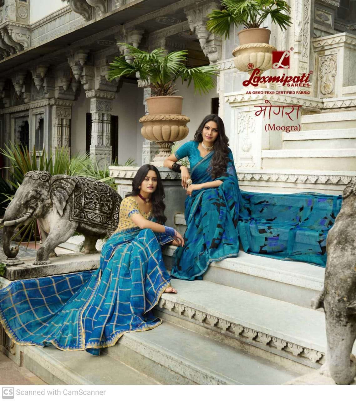 LAXMIPATI MOOGRA GEORGETTE WITH DIGITAL PEINT SAREE COLLECTION  AT WHOLESALE RATE