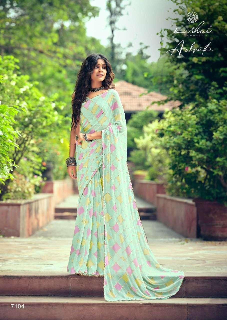LT FABRICS KASHVI AAKRUTHI GEORGETTE WITH PRINTD SAREE COLLECTION 07