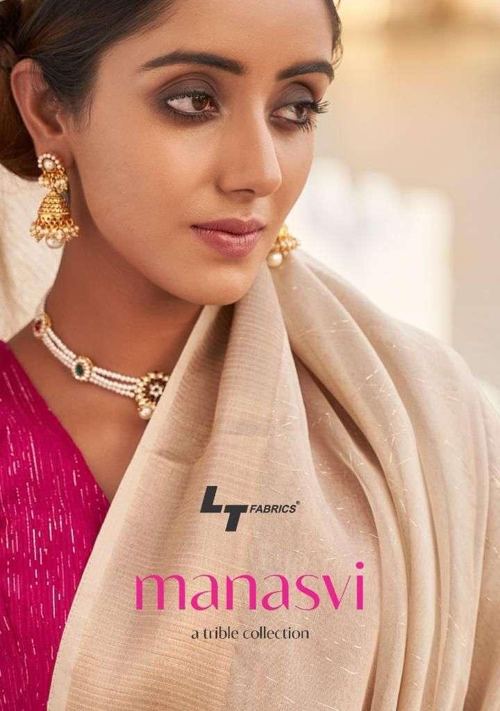 LT Fabrics Manasvi Fancy Zari party Wear Sarees Collection