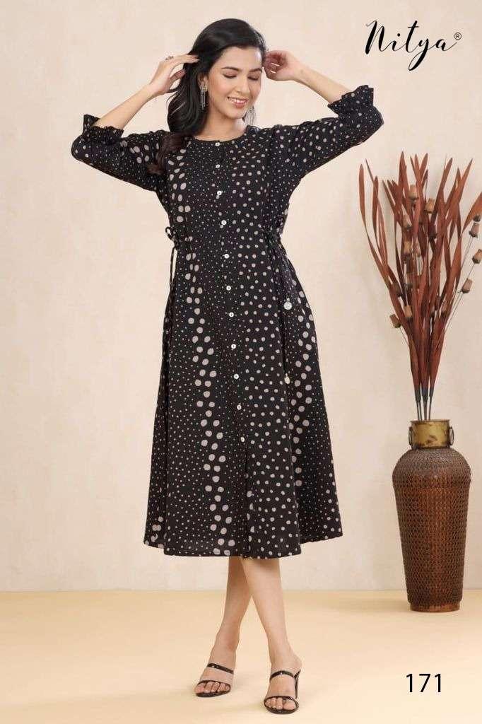 LT Fabrics Nitya D_no 171 Cotton printed Fancy Kurtis Collection