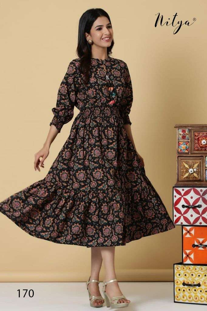 LT Fabrics Nitya Design no 170 cotton print fancy kurtis