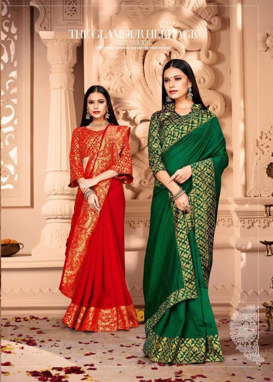 Madhuilka Vichitra Silk With Weaving jacquard Border Sarees Collection