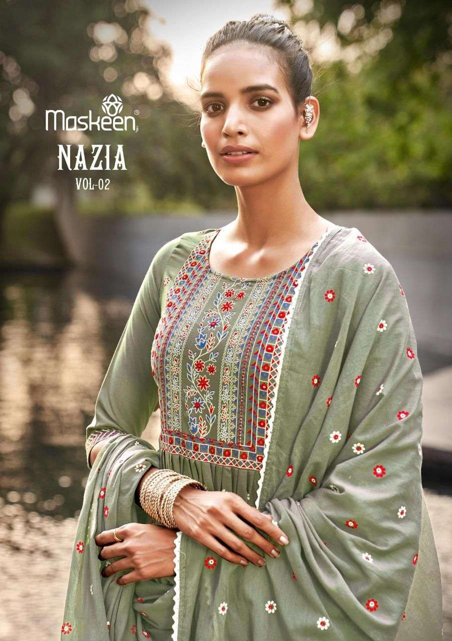 Maisha Maskeen Nazia Vol 2 Rayon Print With Mirror Work readymade Suits Collection