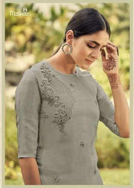Maskeen Zuan 3311-3314 series Viscose Upada with khatli work kurtis with bottom collection