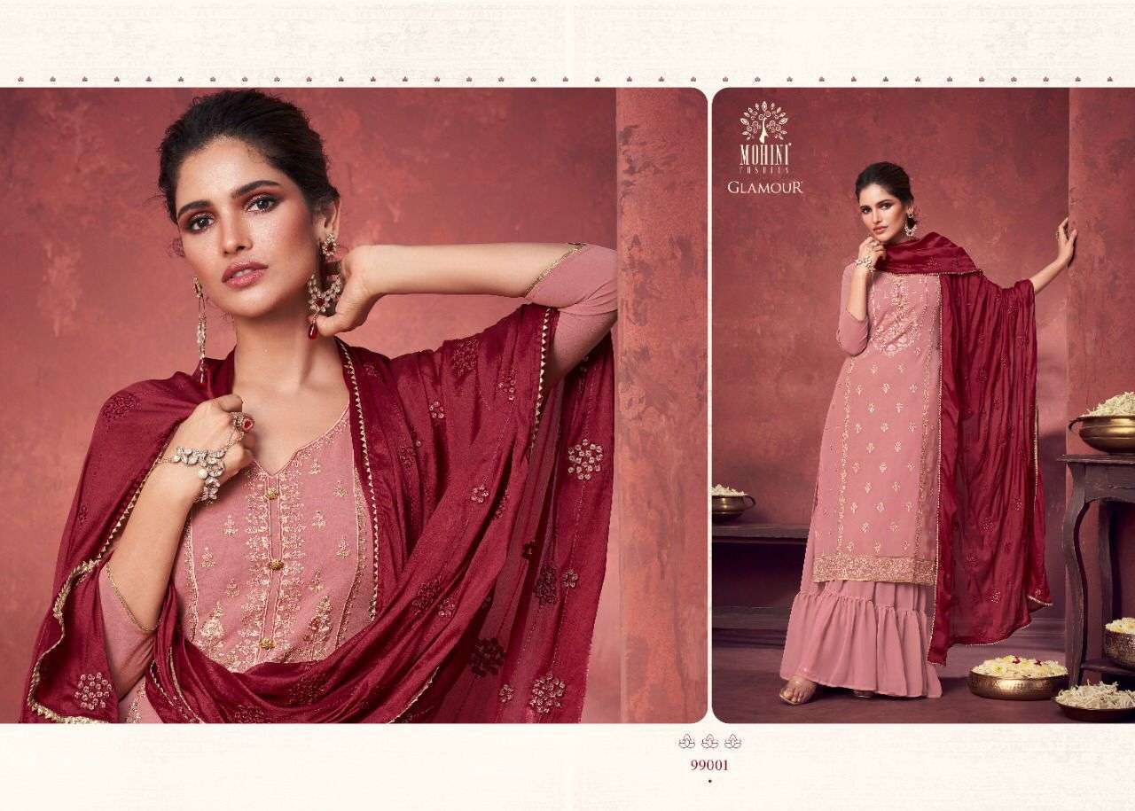 Mohini Fashion Glamour Vol 99 Georgette With Heavy Embroidery Work Dress Material Collection 01
