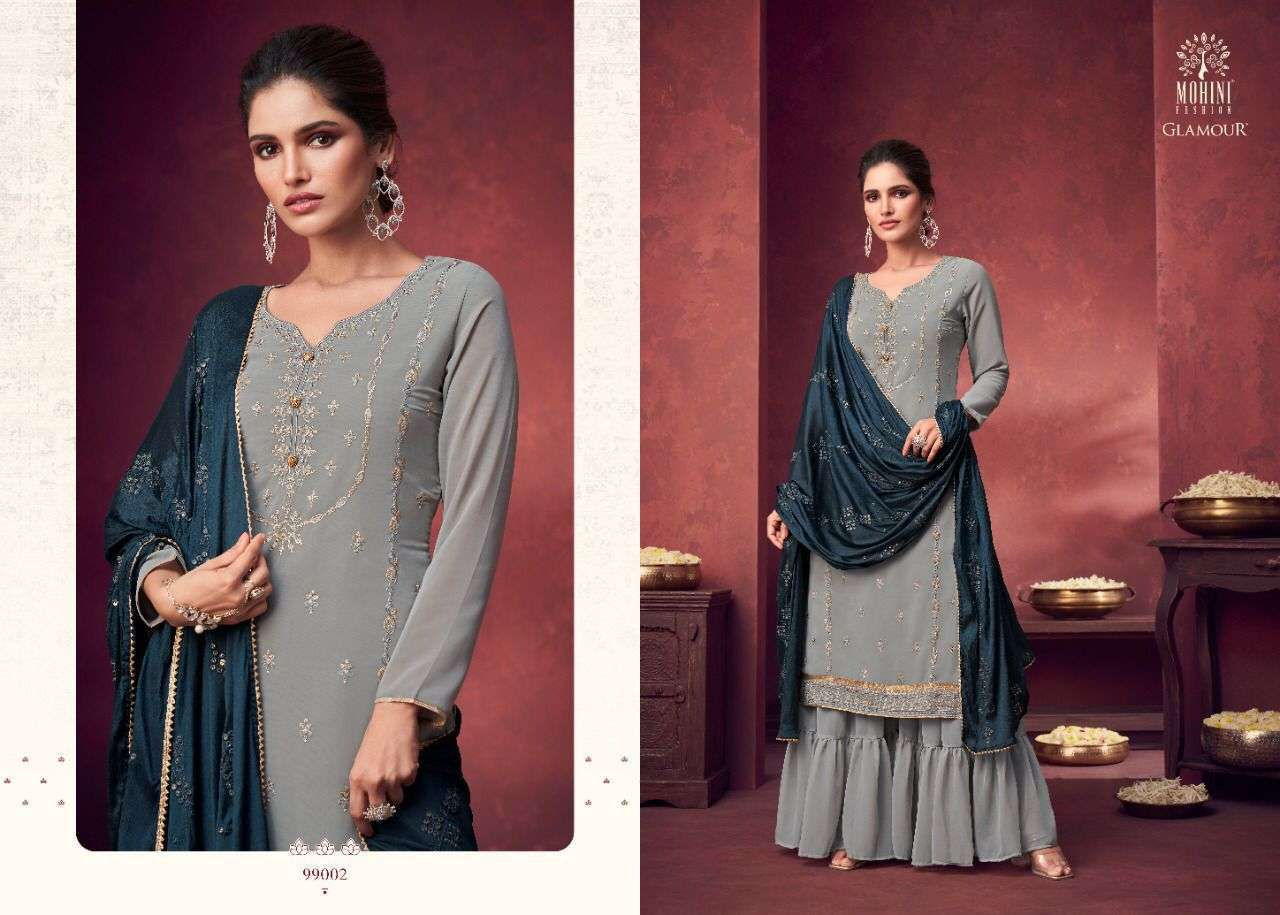 Mohini Fashion Glamour Vol 99 Georgette With Heavy Embroidery Work Dress Material Collection 02
