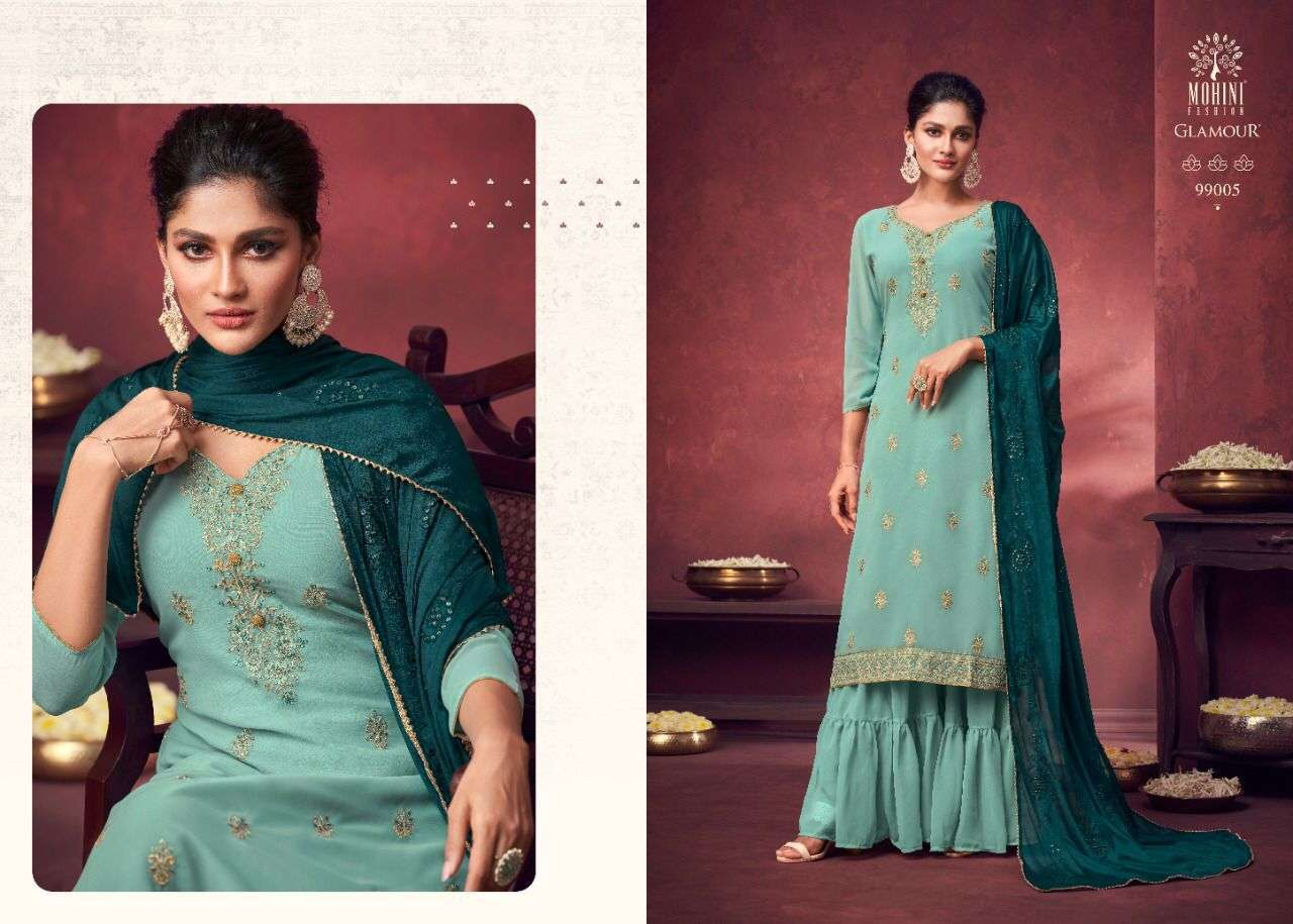 Mohini Fashion Glamour Vol 99 Georgette With Heavy Embroidery Work Dress Material Collection 03