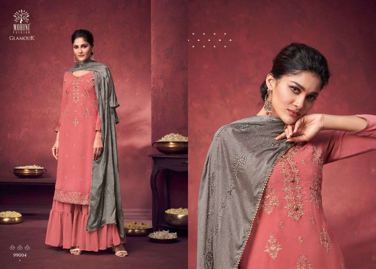 Mohini Fashion Glamour Vol 99 Georgette With Heavy Embroidery Work Dress Material Collection 05